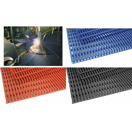miltex Arbeitsplatzmatte Yoga Roll, (B)910 mm, blau