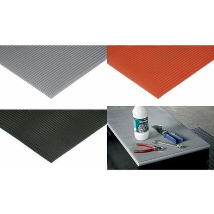 miltex Arbeitsplatzmatte FlexiLine, (B)1.000 mm, grau