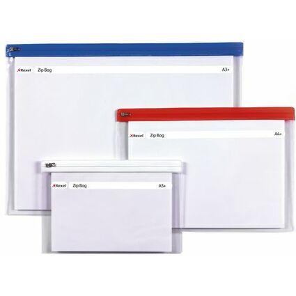 Rexel Reißverschlusstasche, DIN A5, PVC, farbig sortiert