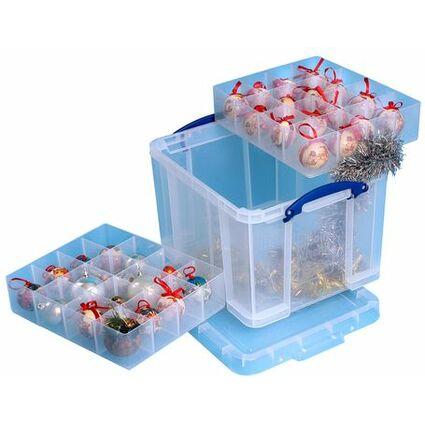 Really Useful Box Aufbewahrungsbox mit Einsätzen, 35 Liter