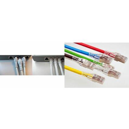 EC-net Patchkabel Kat. 6A S/FTP, grau,10,0 m