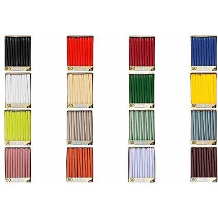 PAPSTAR Leuchterkerzen, 22 mm, weiß, 50er Pack