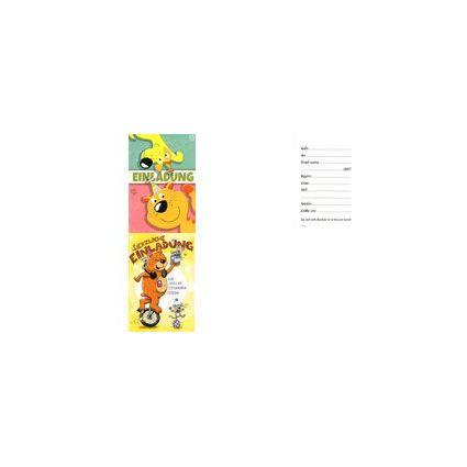 HORN Einladungskarte - Kinder-Geburtstag - Bär auf Einrad -