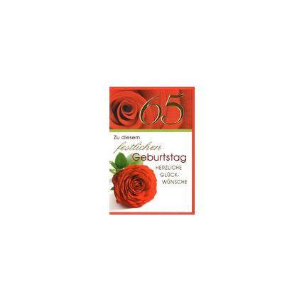 HORN Geburtstagskarte - Rote Rose - 100. Geburtstag