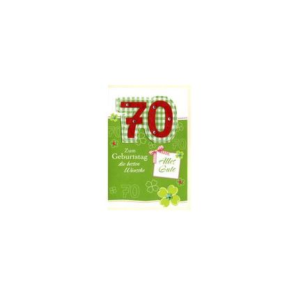 HORN Geburtstagskarte - Kreative Gestaltung - 70.Geburtstag