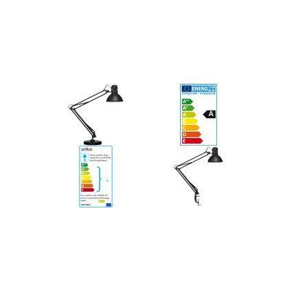 unilux Energiespar-Tischleuchte SUCCESS 80, Farbe: schwarz