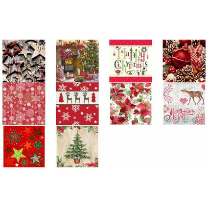 "PAPSTAR Weihnachts-Motivservietten ""Merry Christmas"""