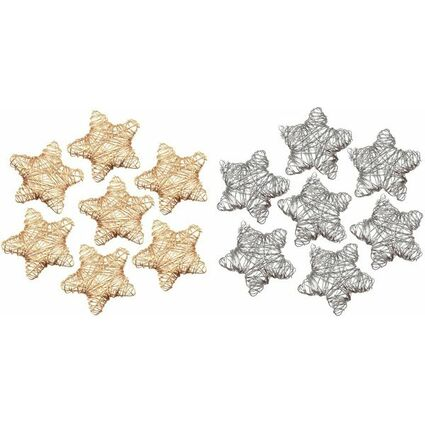 "PAPSTAR Streuschmuck ""Wired Stars"", gold"