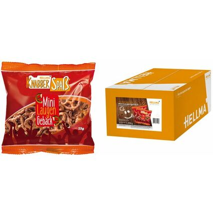 HELLMA Mini Laugengebäck, im Portionsbeutel à 15 g
