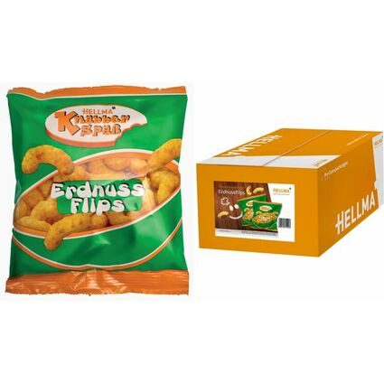 HELLMA Erdnussflips, im Portionsbeutel à 8 g