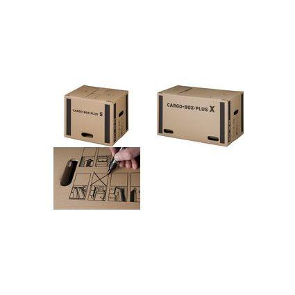 "smartboxpro Umzugskarton ""CARGO-BOX-PLUS S"", braun"