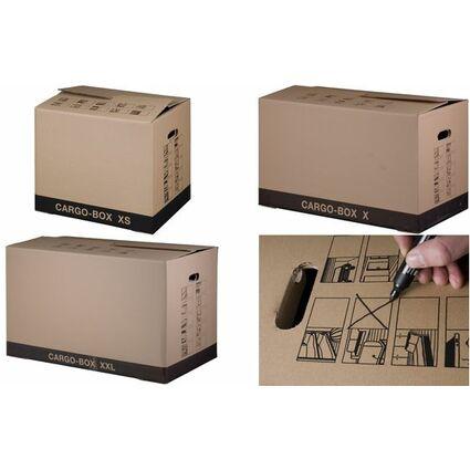 "smartboxpro Umzugskarton ""CARGO-BOX XS"", braun"