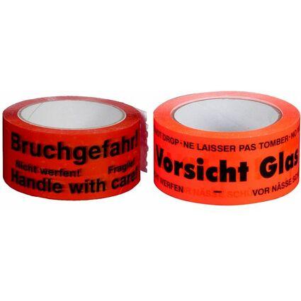 """smartboxpro Signalklebeband """"Rechnung/Lieferschein..!"""", rot"""