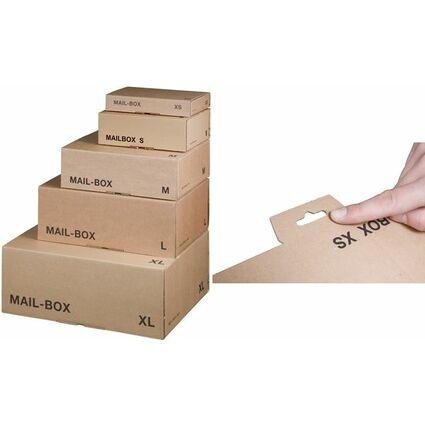 smartboxpro Paket-Versandkarton MAIL BOX, Größe: XS, braun