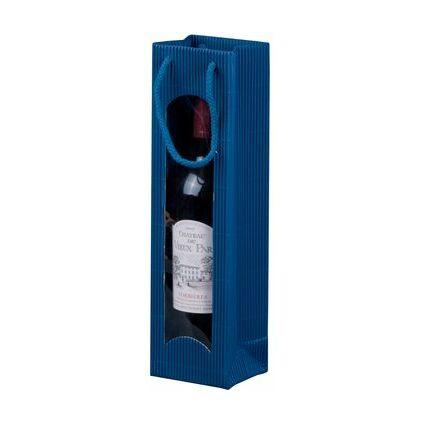 smartboxpro Flaschentüte, für 1 Flasche, saphirblau