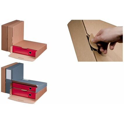smartboxpro Ordner-Versandkarton, braun, (B)50 mm