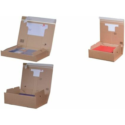 smartboxpro Paket-Versandkarton PACK BOX, DIN A5+, braun