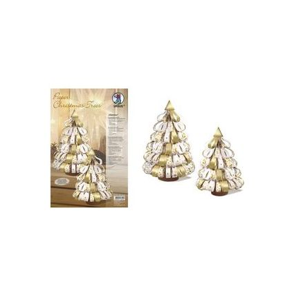 "URSUS Designstreifen Paper Christmas Trees ""Glamour"""