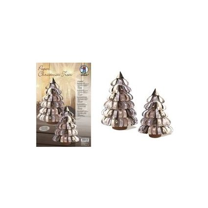 "URSUS Designstreifen Paper Christmas Trees ""Country"""