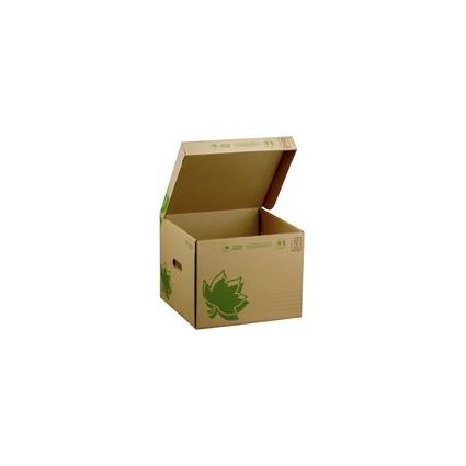 FAST NATURE LINE Archiv- & Transport-Box, braune Wellpappe