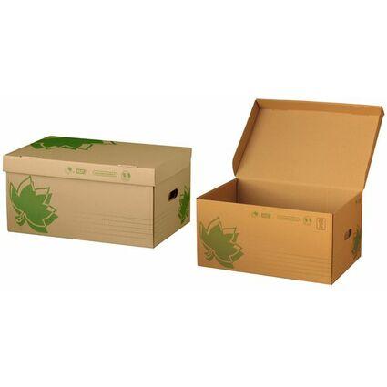 FAST NATURE LINE Archiv-Klappdeckelbox, braune Wellpappe
