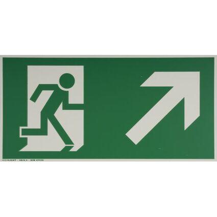 """smartboxpro Hinweisschild """"Rettungsweg rechts"""", aufwärts"""