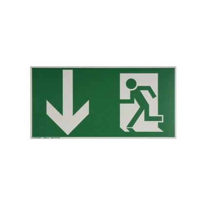 """smartboxpro Hinweisetikett """"Rettungsweg rechts"""", abwärts"""