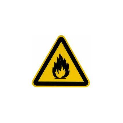 """smartboxpro Hinweisetikett """"Warnung vor feuergefährlichen.."""""""