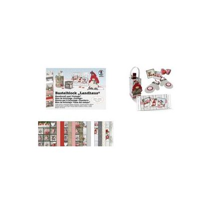 "URSUS Fotokarton-Bastelblock ""Landhaus Winter"", 300 g/qm"