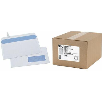 GPV Briefumschläge, DL, 110 x 220 mm, weiß, mit Fenster