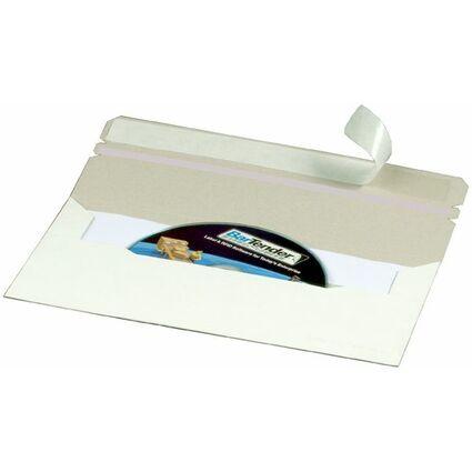 smartboxpro CD/DVD-Brief, DIN lang, mit Fenster links, weiß