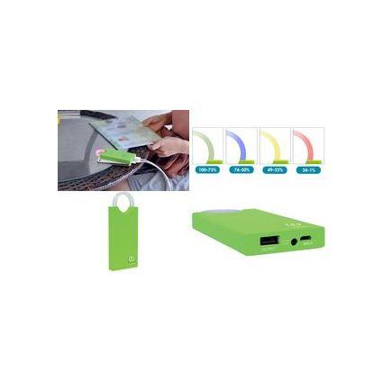 "TYPHOON Mobiler Zusatzakku ""PowerBank XL"", 4.000 mAh, grün"