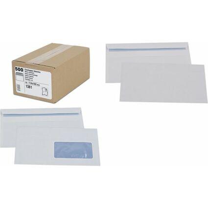 GPV Briefumschläge, C6: 114 x 162 mm, weiß, 80 g/qm