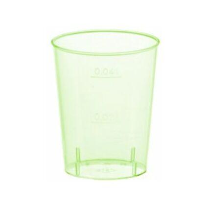 PAPSTAR Kunststoff-Schnapsglas, 4 cl, grün transparent