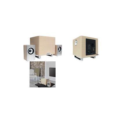 """TYPHOON 2.1 Lautsprecher-System """"WoodSub"""", 38 Watt"""