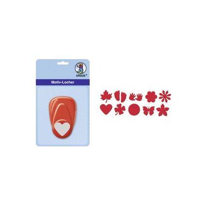 """URSUS Motiv-Locher """"Sternblume"""", klein, Farbe: rot"""