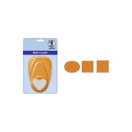 """URSUS Motiv-Locher """"Wellenlinie"""", mittel, Farbe: orange"""