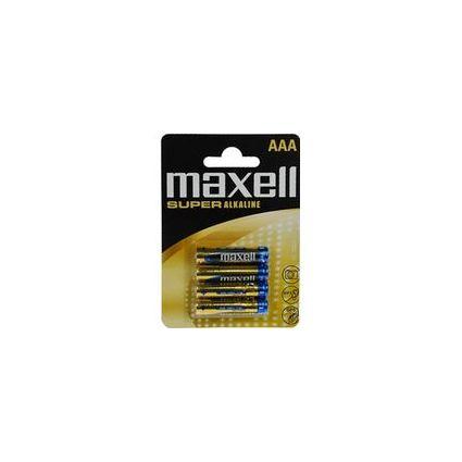 """maxell Alkaline Batterie """"SUPER"""", Micro AAA, 4er Blister"""