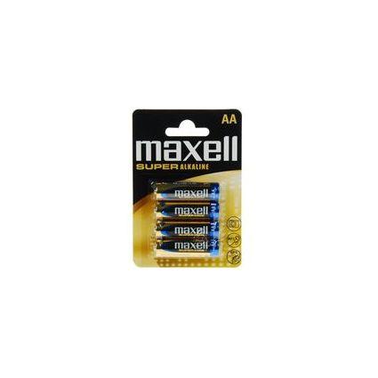 """maxell Alkaline Batterie """"SUPER"""", Mignon AA, 4er Blister"""