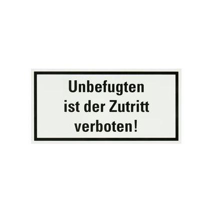 """smartboxpro Hinweisschild """"Unbefugten ist der Zutritt ..."""""""