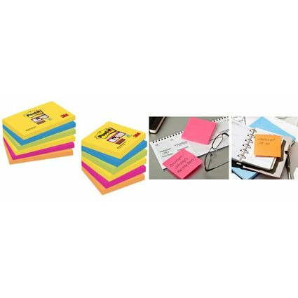 Post-it Haftnotizen Super Sticky Notes, 127 x 76 mm, Rio