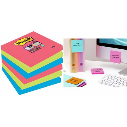 Post-it Haftnotizen Super Sticky Notes, 127x76 mm, 5+1