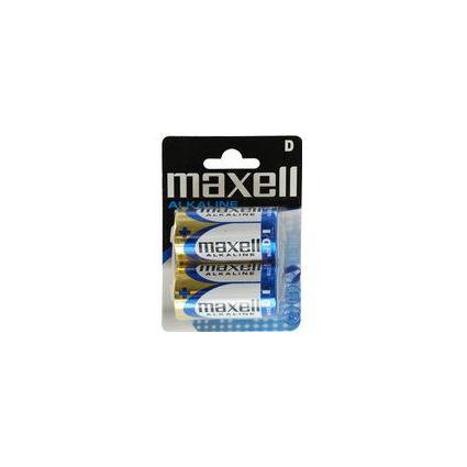 maxell Alkaline Batterie, Mono D, 2er Blister