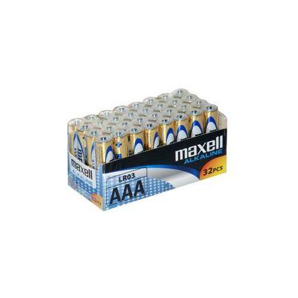 maxell Alkaline Batterie, Micro AAA, 32er Display