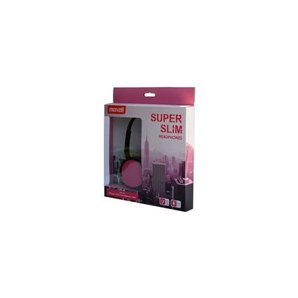 "maxell Headset ""SUPER SLIM"", pink"