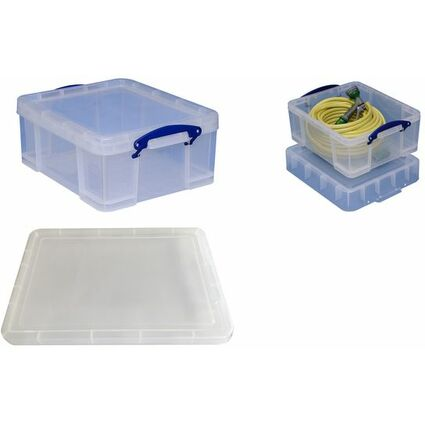 Really Useful Box Aufbewahrungsbox 21 Liter, transparent