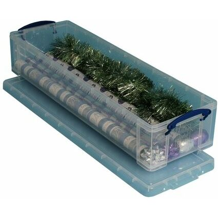 Really Useful Box Aufbewahrungsbox 22 Liter, transparent