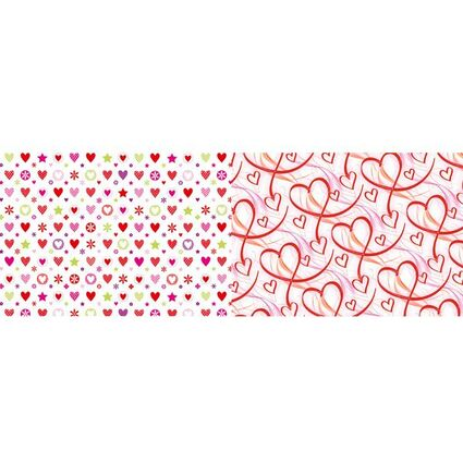 """SUSY CARD Geschenkpapier """"Rote Herzen"""", auf Rolle"""