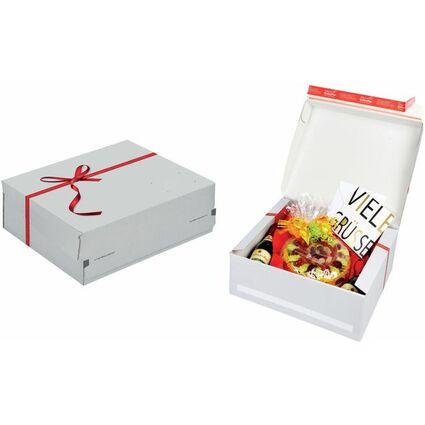 ColomPac Geschenk-Versandkarton, Größe: M, rote Schleife