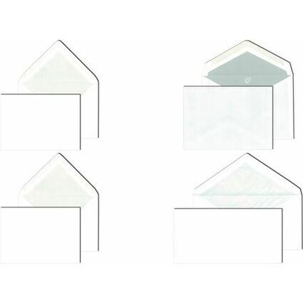 MAILmedia Briefumschlag, Seidenfutter, B6, weiß